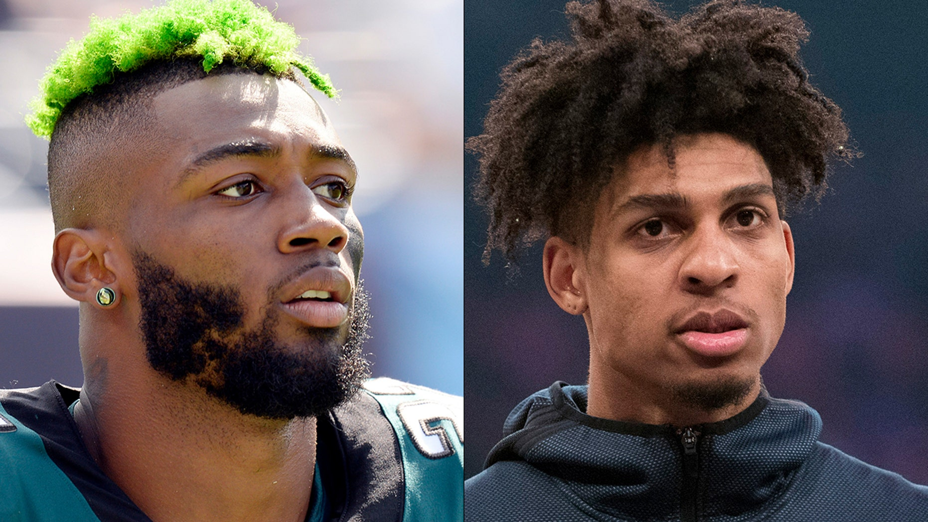 Jalen Mills and Devin Robinson were arrested Saturday.