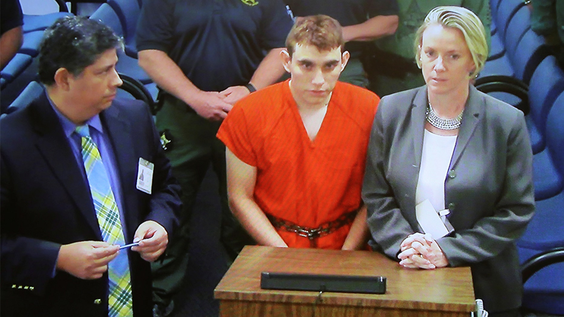 Parkland killer Nikolas Cruz, center, was among the many prisoners who've looked for love behind bars.