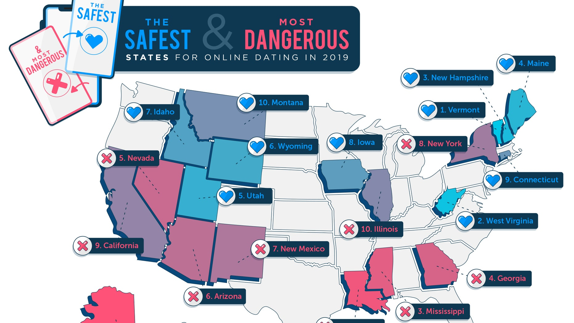 The online dating map of the U.S. (HighSpeedInternet.com)