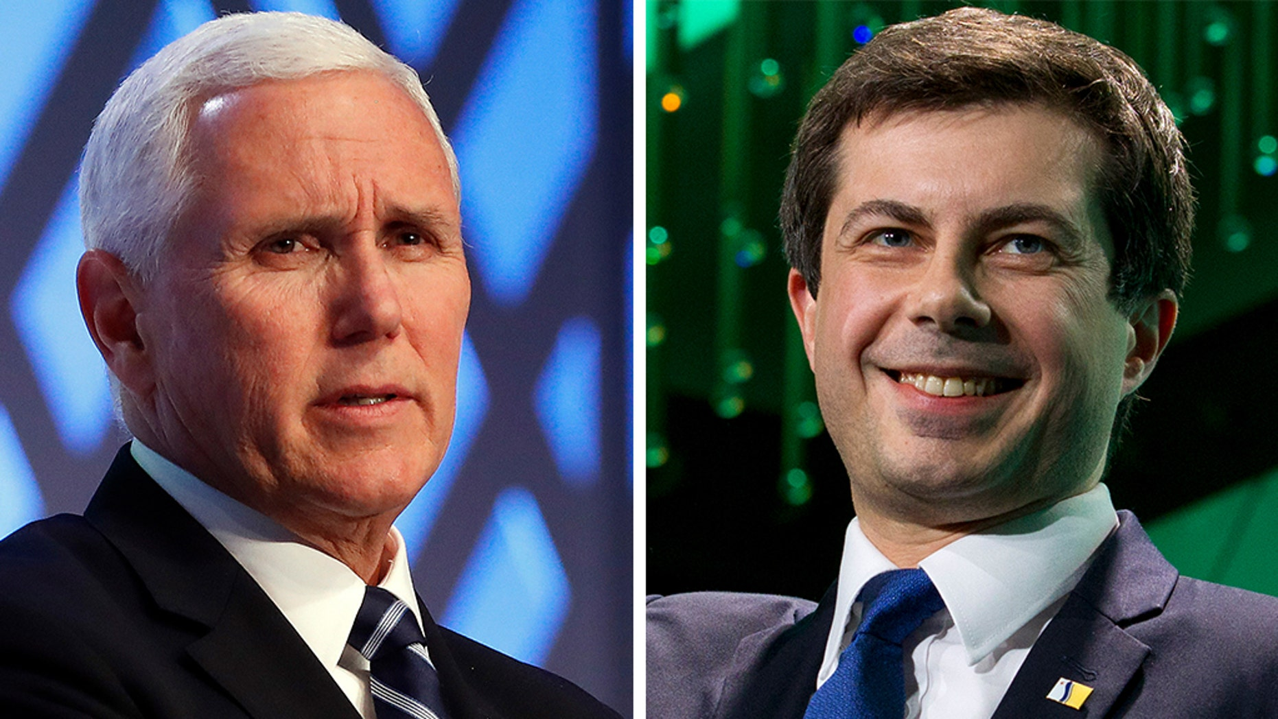 Vice President Mike Pence and Pete Buttigieg