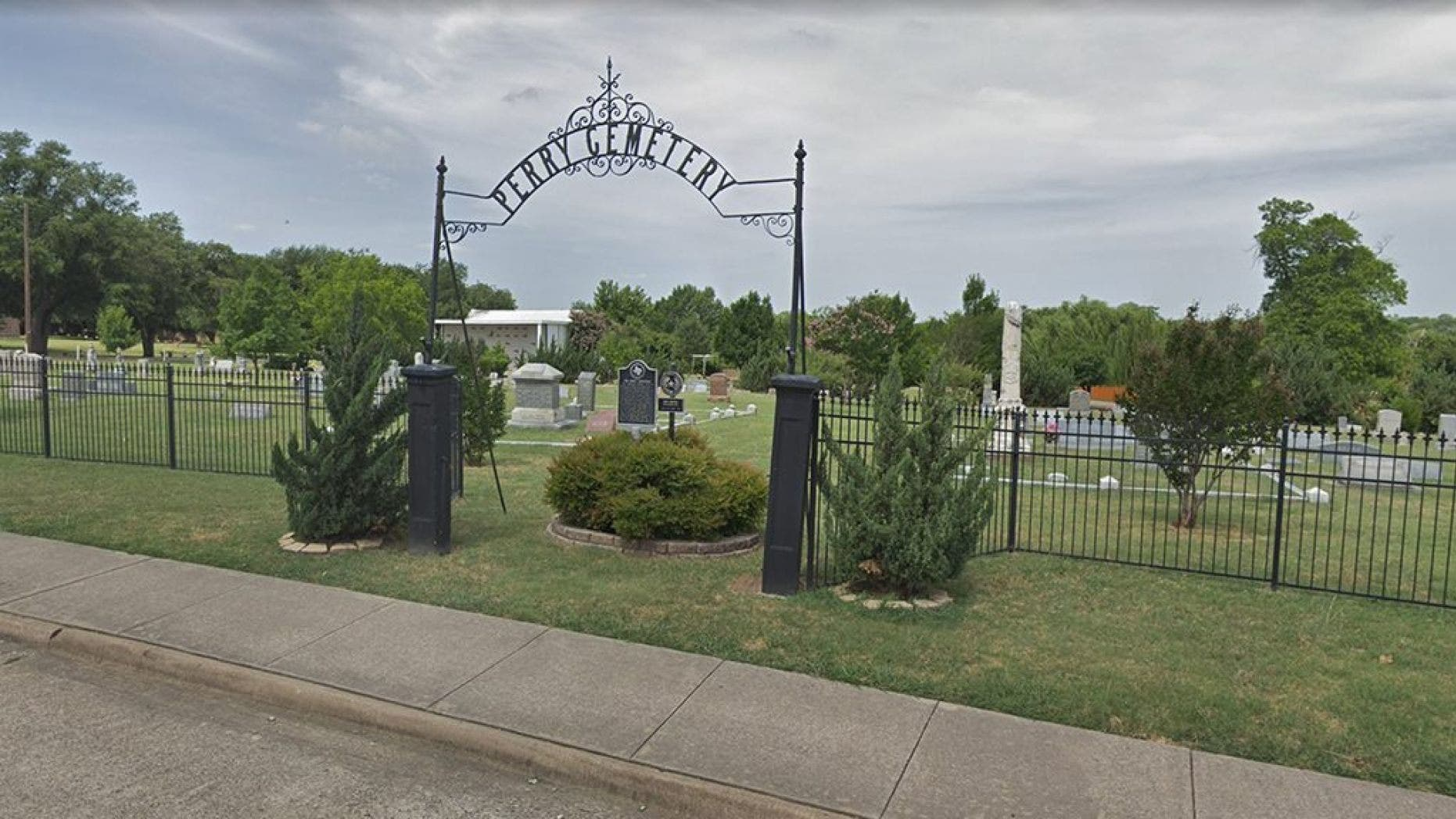 The mother of an infant who was found buried inside a flowerpot at a Texas cemetery last month has come forward to police, officials said.