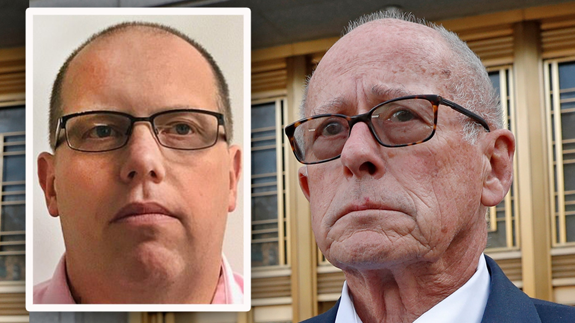 William Pietruszewski, left, the former chief compliance officer, and Laurence Doud III, right, the retired CEO of the Rochester Drug Co-Operative, were hit Tuesday with criminal charges stemming from the opioid crisis. (LinkedIn / AP)