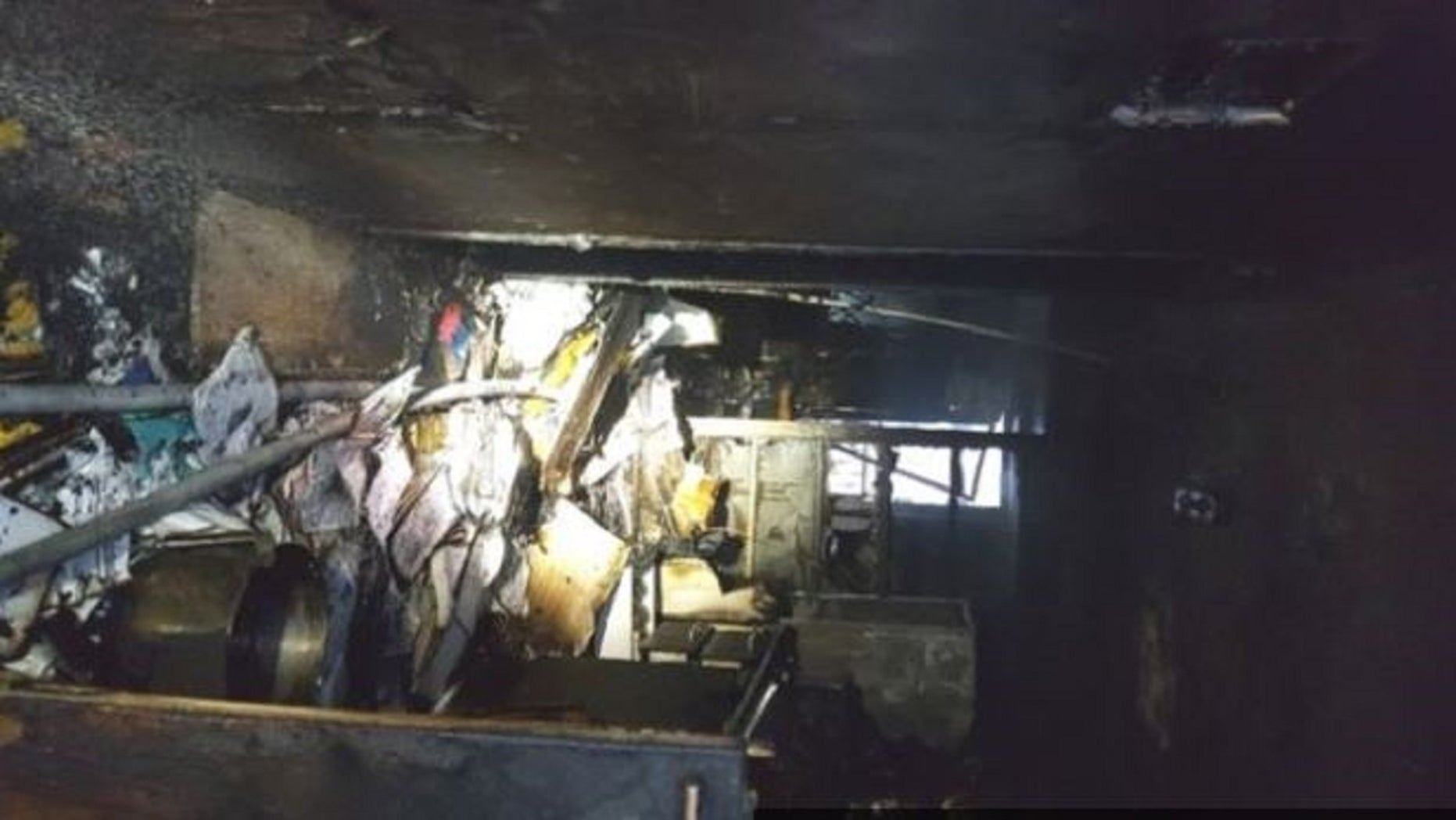 South Korean authoritiessaid a man set his apartment on fire Wednesday and stabbed building residents fleeing the blaze.