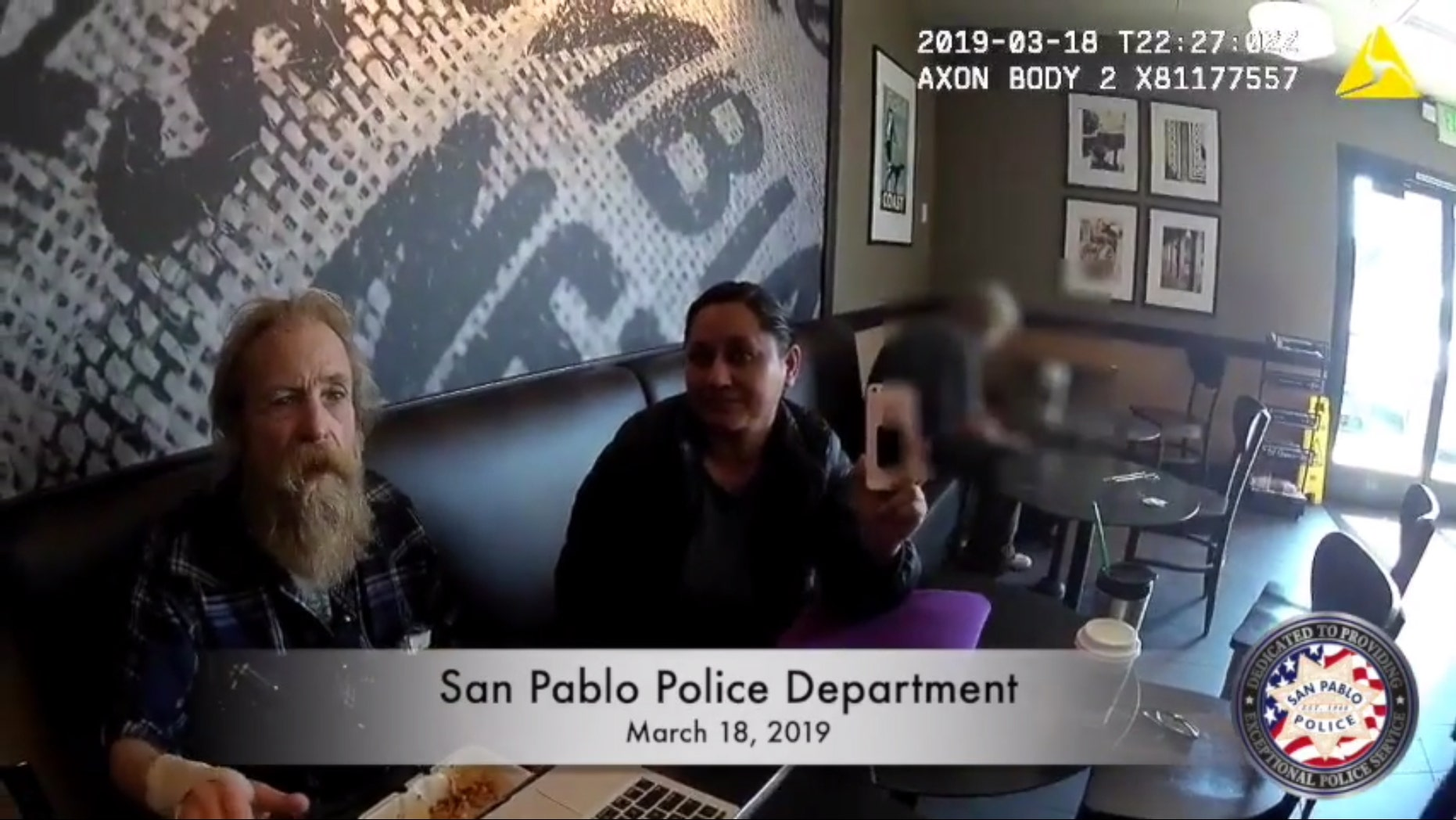 Westlake Legal Group SanPablo1 Police threaten to arrest Starbucks customer after mistaking her for different woman, body-cam footage shows Michael Bartiromo fox-news/food-drink/drinks/coffee fox news fnc/food-drink fnc article 7fd4beae-bc93-593c-a655-a8ba6d976bbd