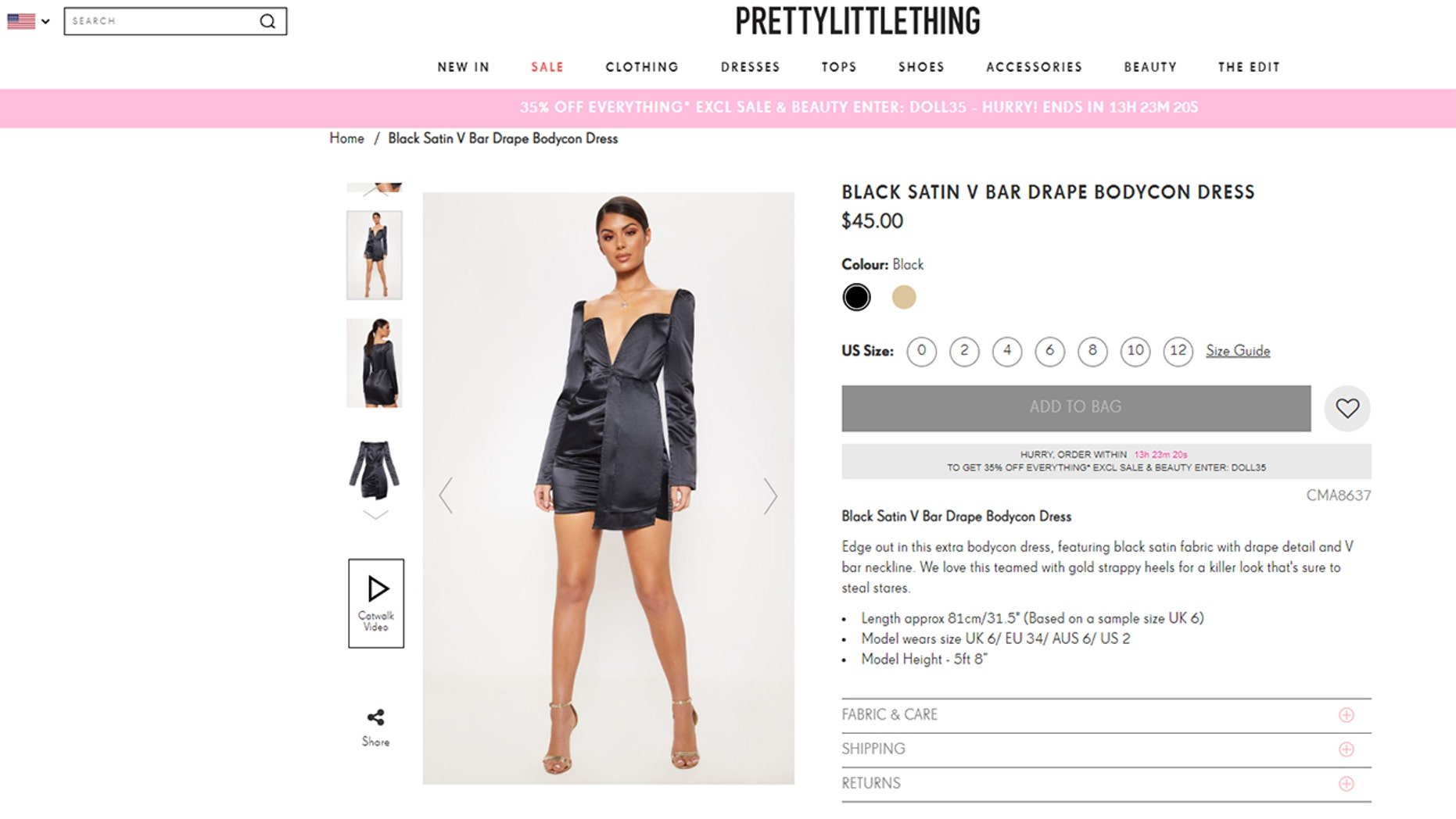 Niamh O'Donnell, from Mansfield, Nottingham, ordered $263 worth of goodies from online fashion retailer PrettyLittleThing.