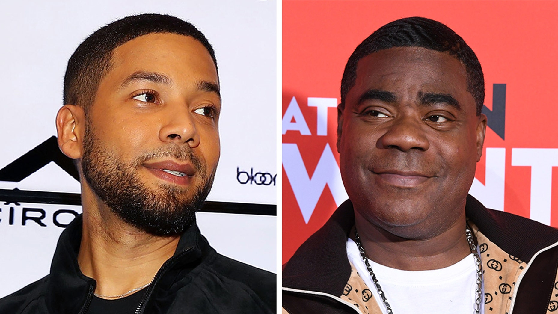 "Jussie Smollett (left) was the target of Tracy Morgan's (right) jokes on ""The Tonight Show Starring Jimmy Fallon"" this week."