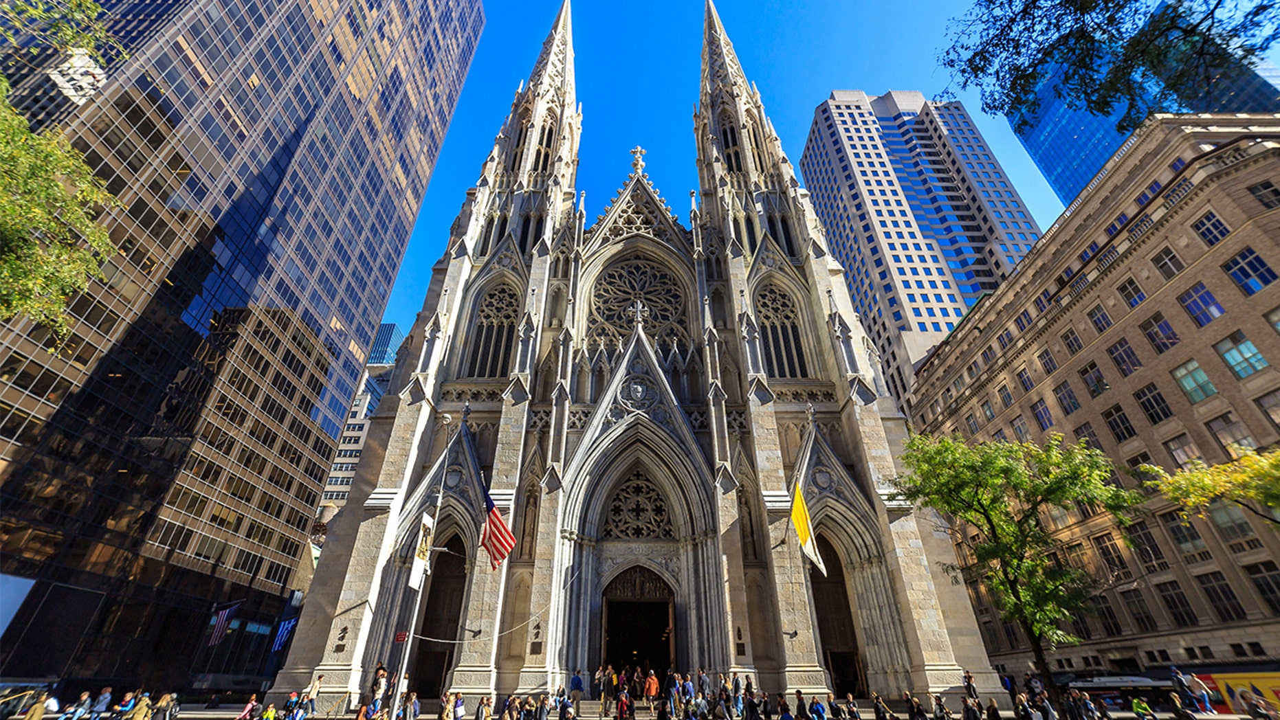 "The New York Police Department was investigating an ""incident"" at St. Patrick's Cathedral on Fifth Avenue Wednesday night."