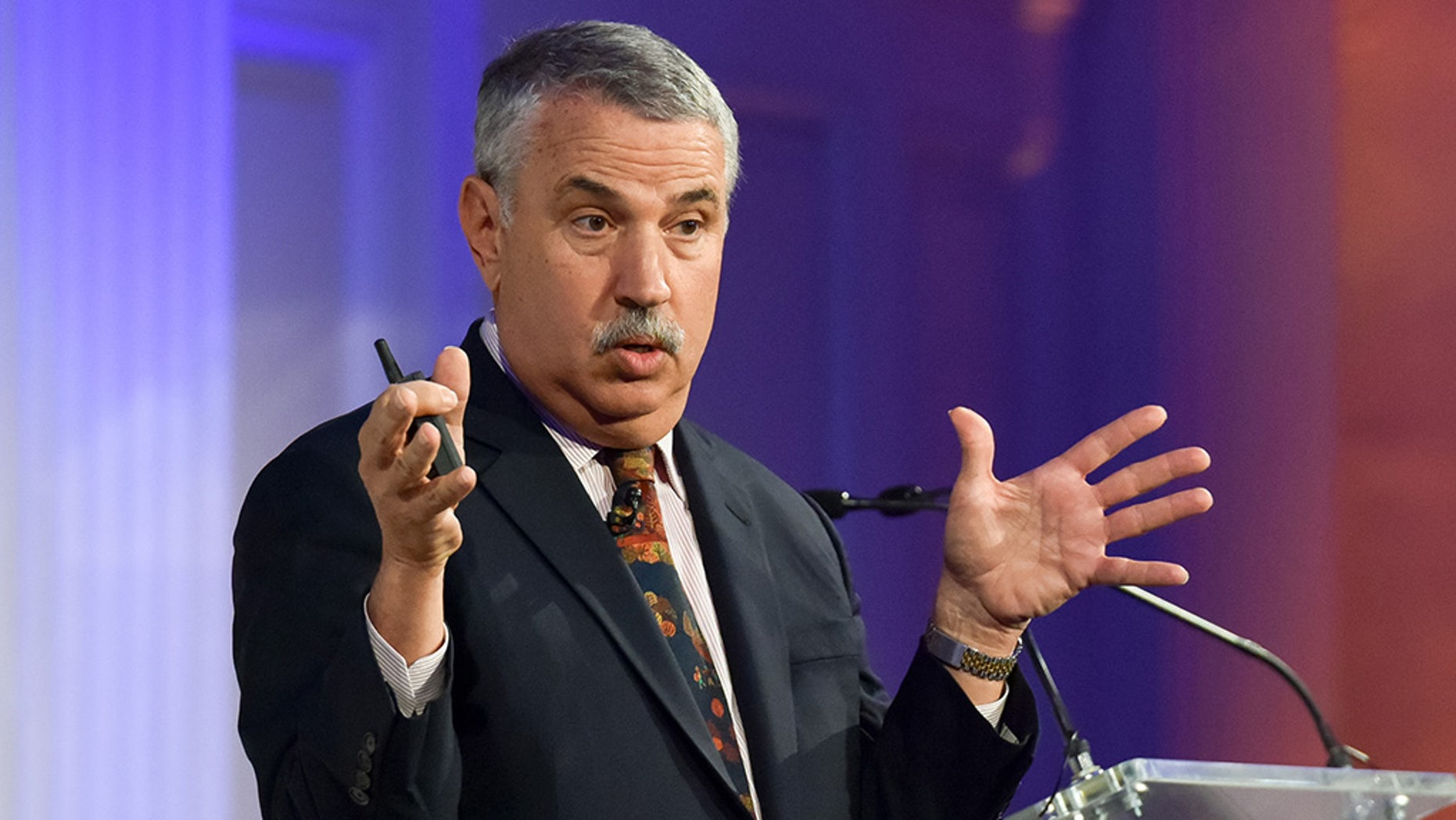 President Trump has an unlikely new ally -- one of the New York Times' most liberal and well-known voices, Thomas Friedman. (Photo by Sean Zanni/Patrick McMullan via Getty Images)
