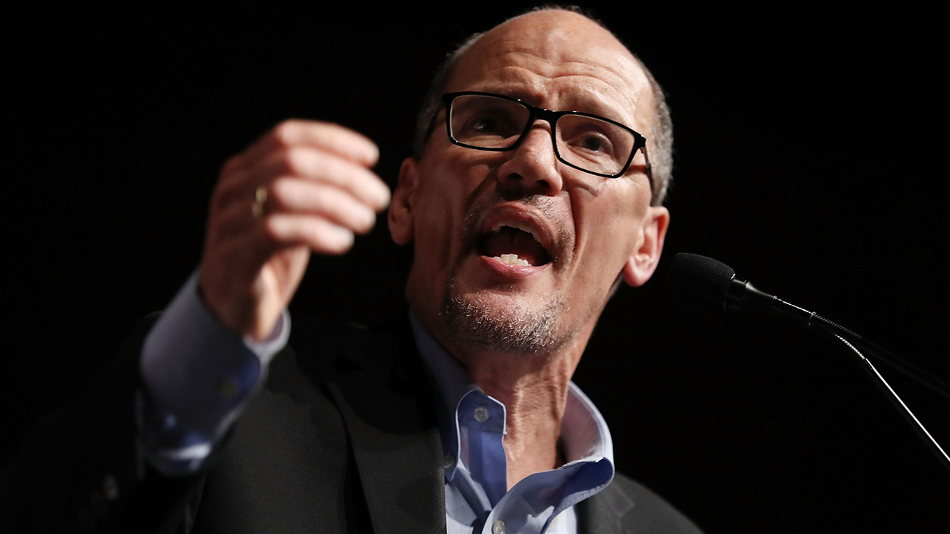"DNC Chair Tom Perez said Republican lawmakers like Paul Ryan and Mitch McConnell who have supported President Trump are ""cowards"" who will be ""judged harshly"" by history"