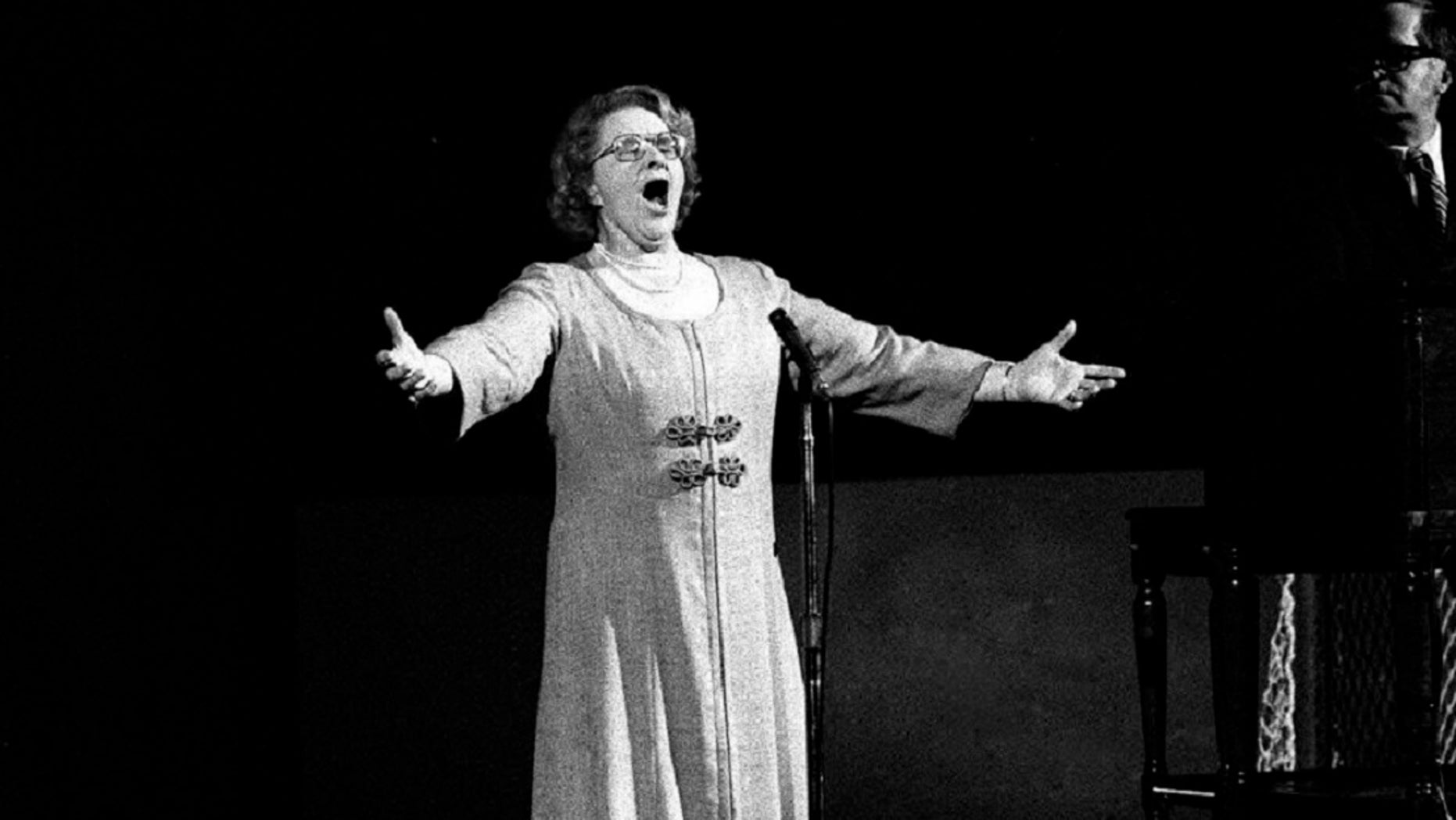 """The New York Yankees have suspended the use of Kate Smith's recording of """"God Bless America"""" during the seventh-inning stretch while they investigate an allegation of racism against the singer. (AP Photo, File)"""