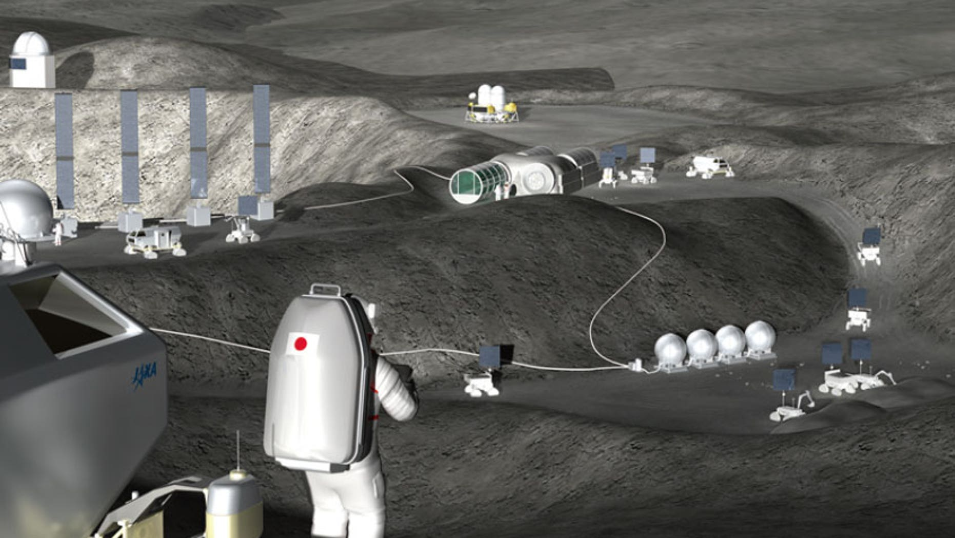 A moon base could be constructed remotely.