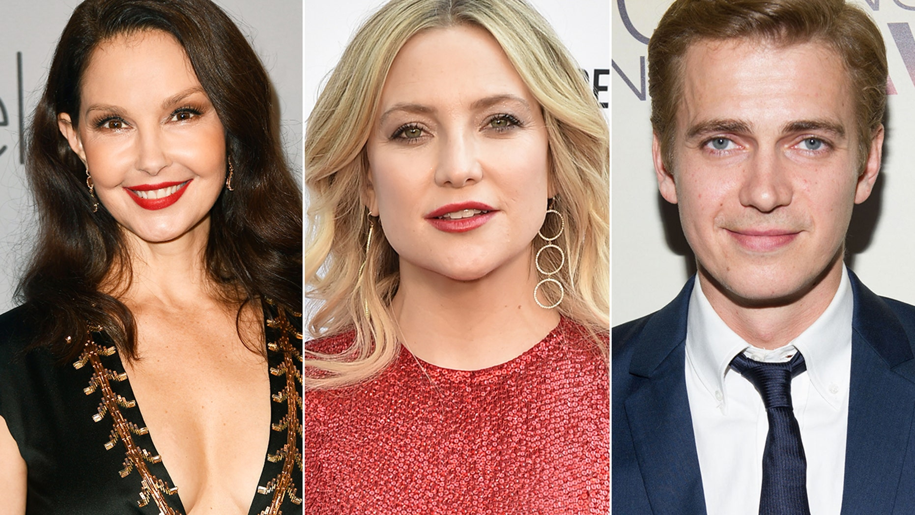 From l-r: Ashley Judd, Kate Hudson and Hayden Christensen all celebrate their birthday on April 19.