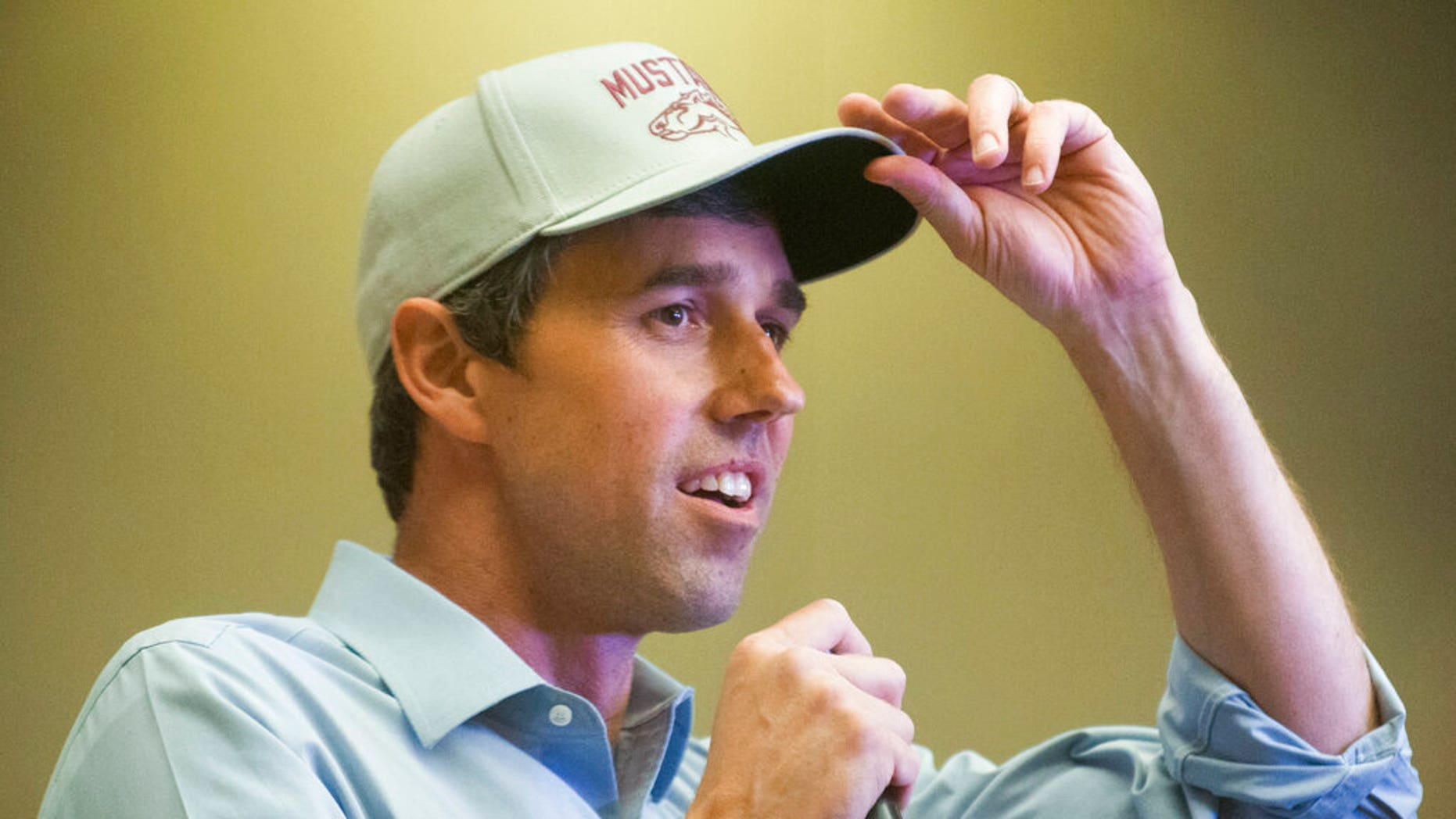 FILE: Democratic presidential candidate and former Texas congressman, Beto O & Rourke, speaks during an election campaign in Sioux City, Iowa.