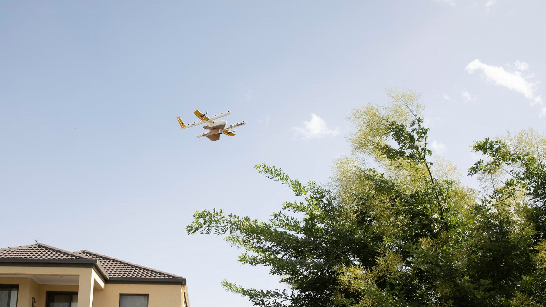 Project Wing launched its first commercial drone delivery service in Australia's capital. The drones lower small items to the front yards of eligible residences by string.