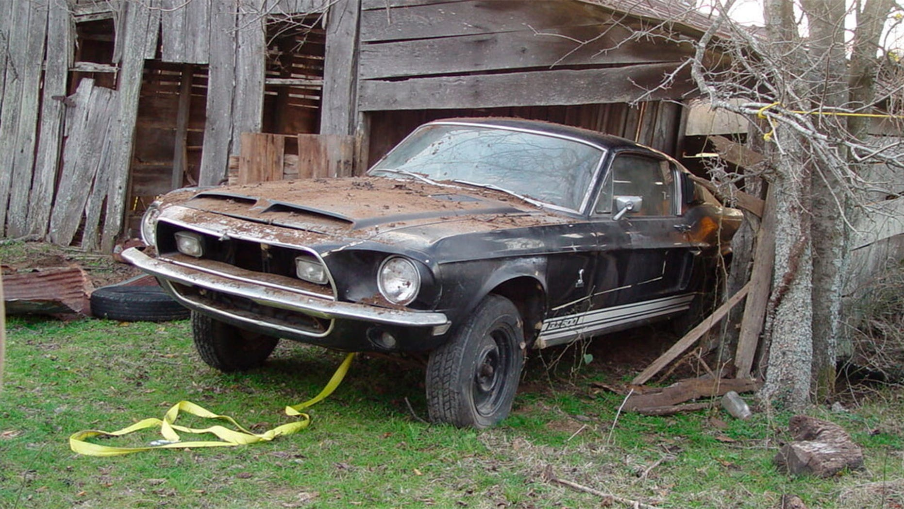 'Barn Find' 1968 Ford Mustang Shelby GT500 up for auction ...