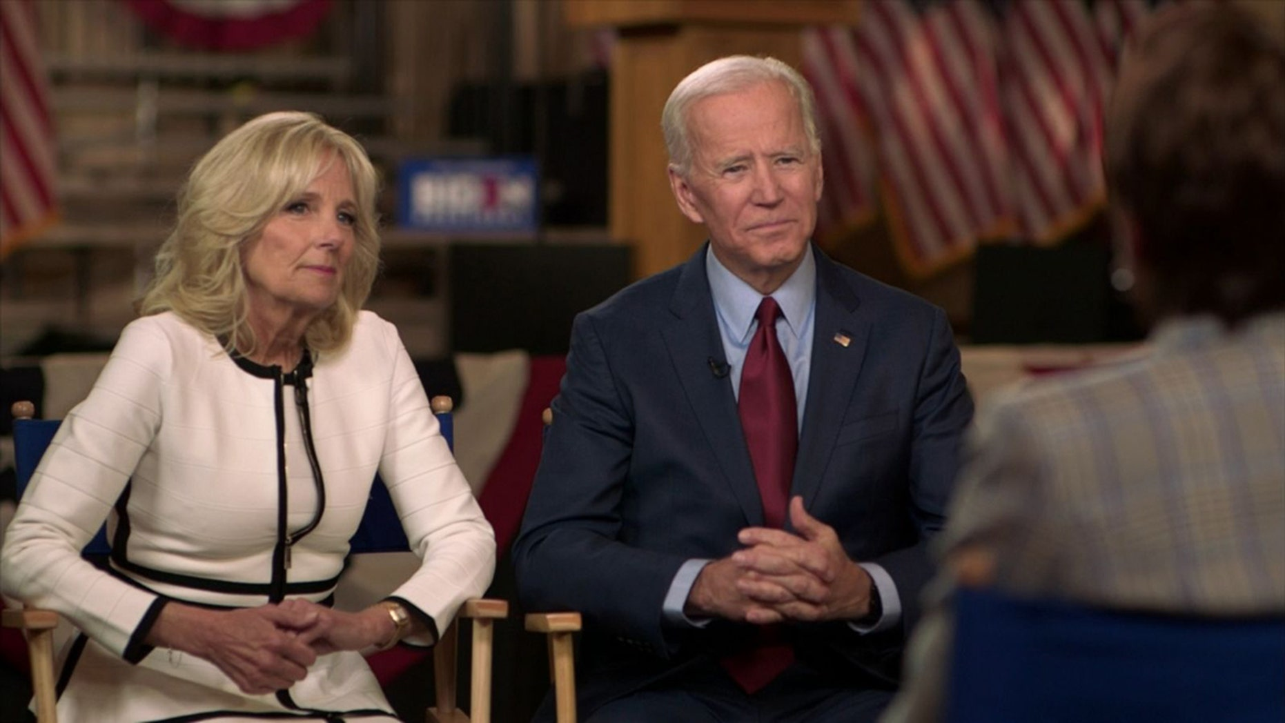 "Jill and Joe Biden appeared on ABC's ""Good Morning America"" Tuesday to discuss his 2020 bid, and allegations made against him by a number of women."