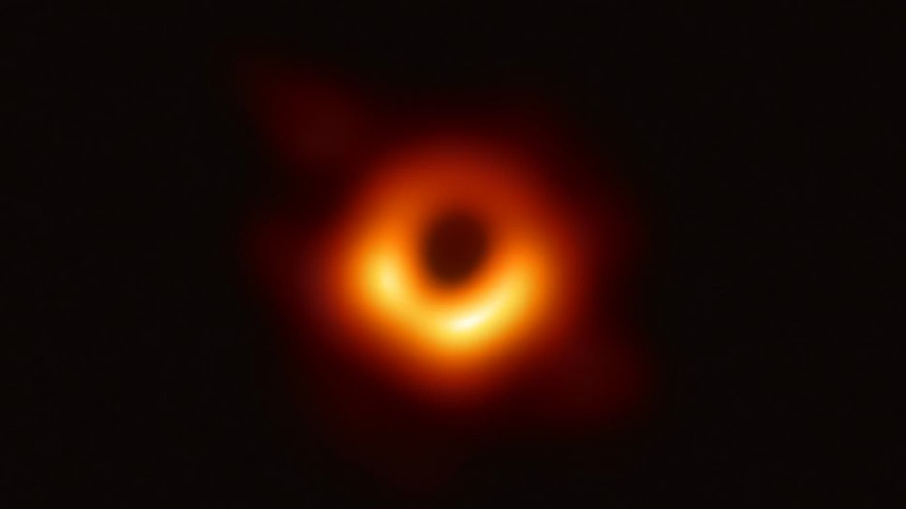 This image by the Event Horizon Telescope project shows the event horizon of the supermassive black hole at the heart of the M87 galaxy.