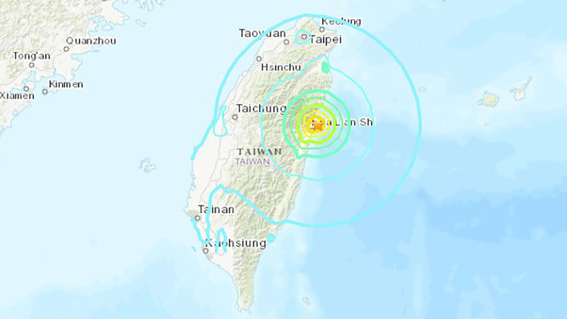 A strong 6.1 magnitude earthquake struck Taiwan's east coast Thursday afternoon, rattling buildings in the capital city.