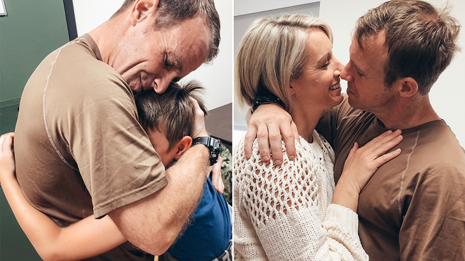 Navy SEAL Eddie Gallagher, who is facing a war crimes trial, has been reunited with his family following his relocation from a Navy brig in California.