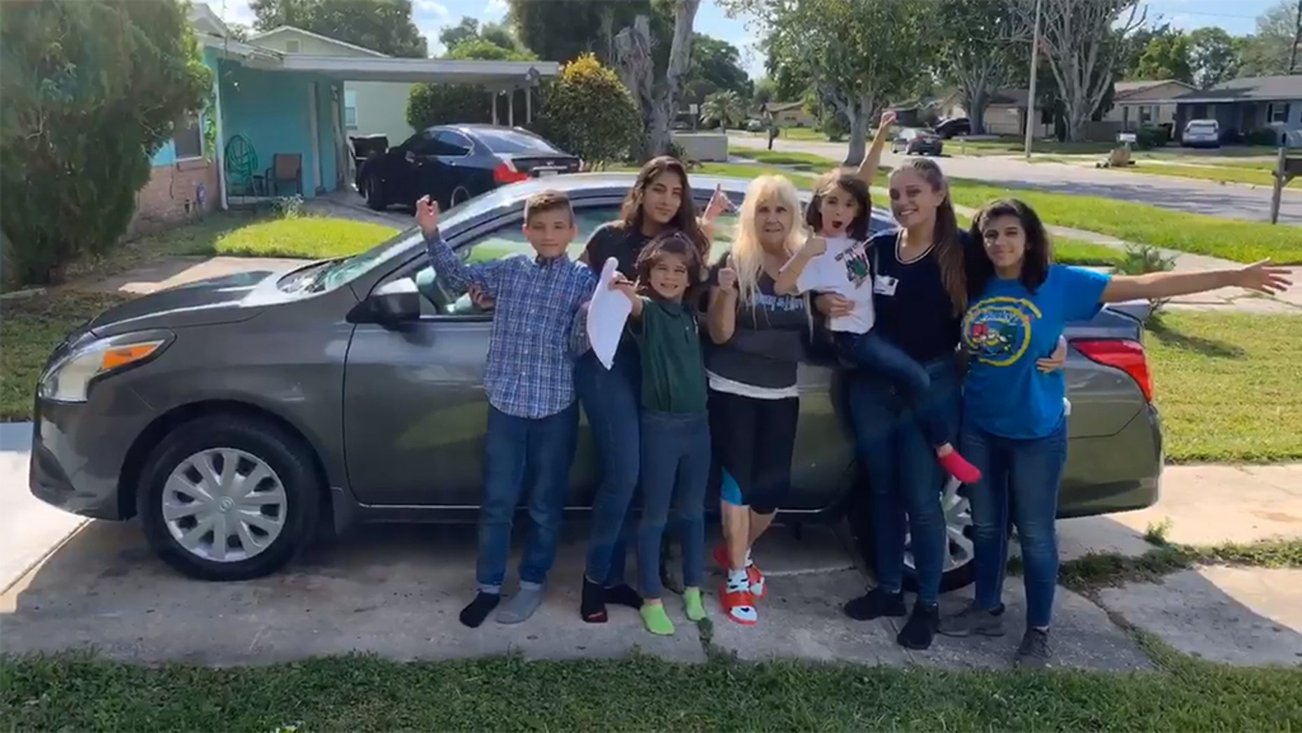 Samantha Rodriguez, 20, who became the caretaker for her five younger siblings after the tragic deaths of both parents, was gifted a new car.