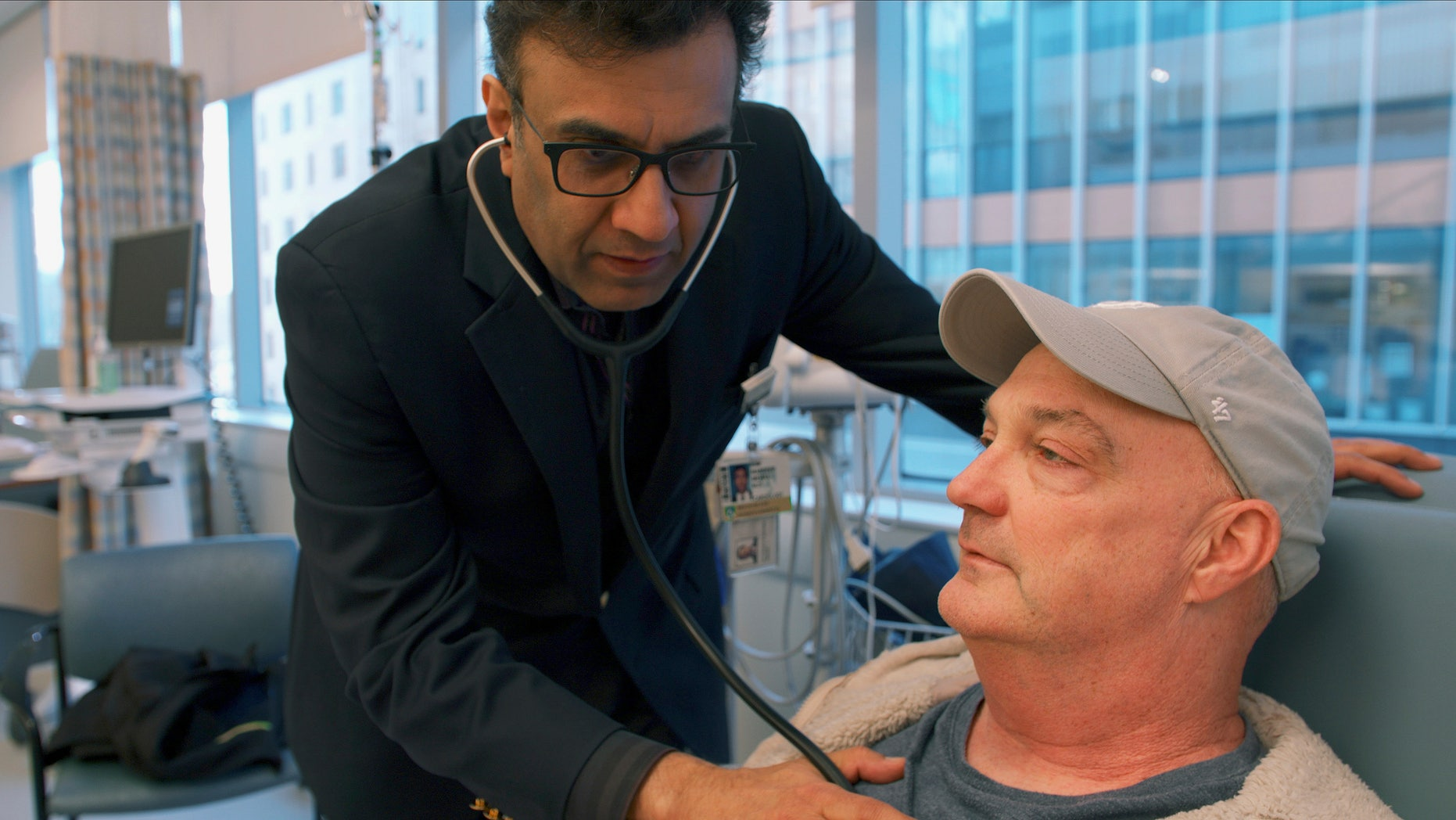 Patient JamesSullivon, who received a hepatitis C-positive heart transplant, was given antiviral medicine shortly after the procedure in hopes of blocking hepatitis C infection rather than having to treat it.