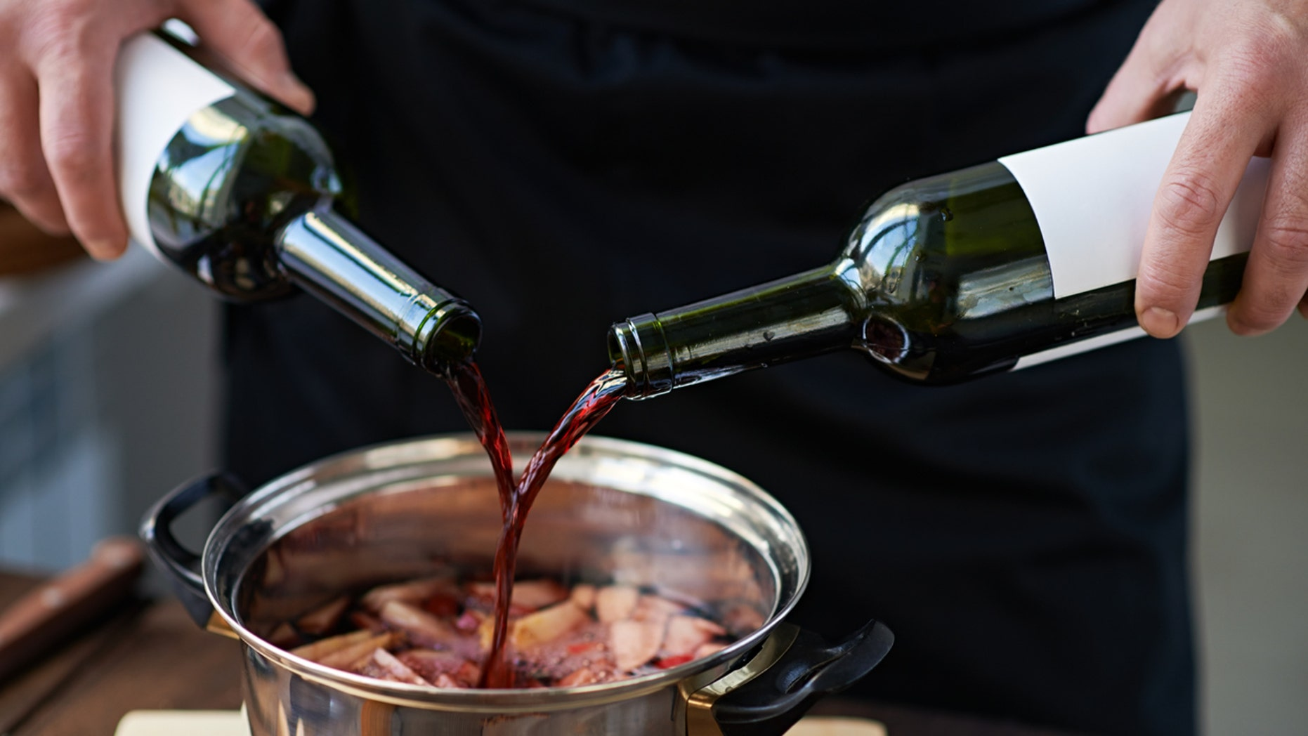Cooking booze — that is, low-grade booze that's been churned with salt and preservatives including potassium metabisulfate and potassium sorbate — has 0 use in a kitchen.