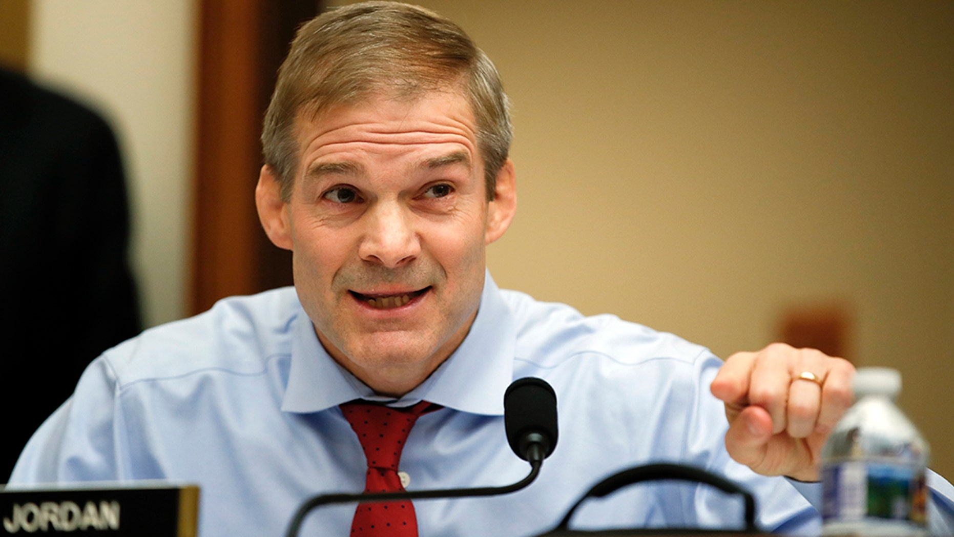 House Judiciary Committee member Rep. Jim Jordan, R-Ohio, during a conference on Capitol Hill in Washington, Dec. 7, 2017. (Associated Press)