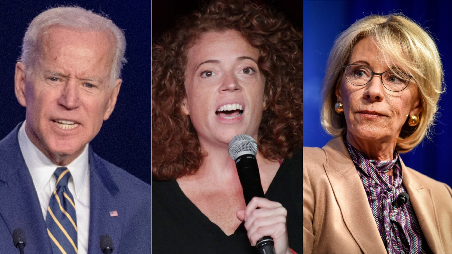 Comedian Michelle Wolf poked fun at Joe Biden and Betsy DeVos.