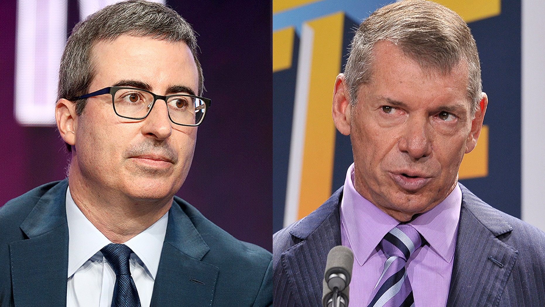 John Oliver and Vince McMahon
