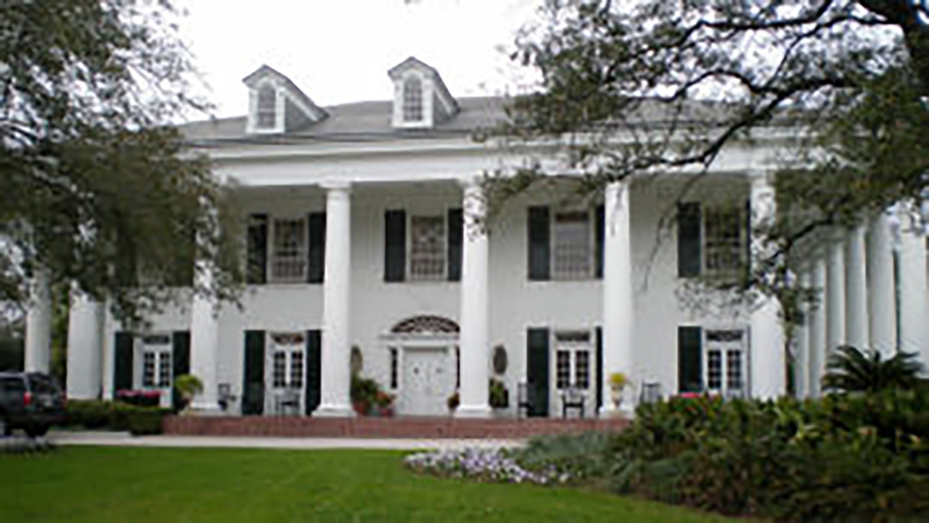 Louisiana Governor's Mansion. State police announced the mansion experienced an extraoridinary security breach last week when a man trespassed into the building and broke an antique table before falling asleep on a couch.