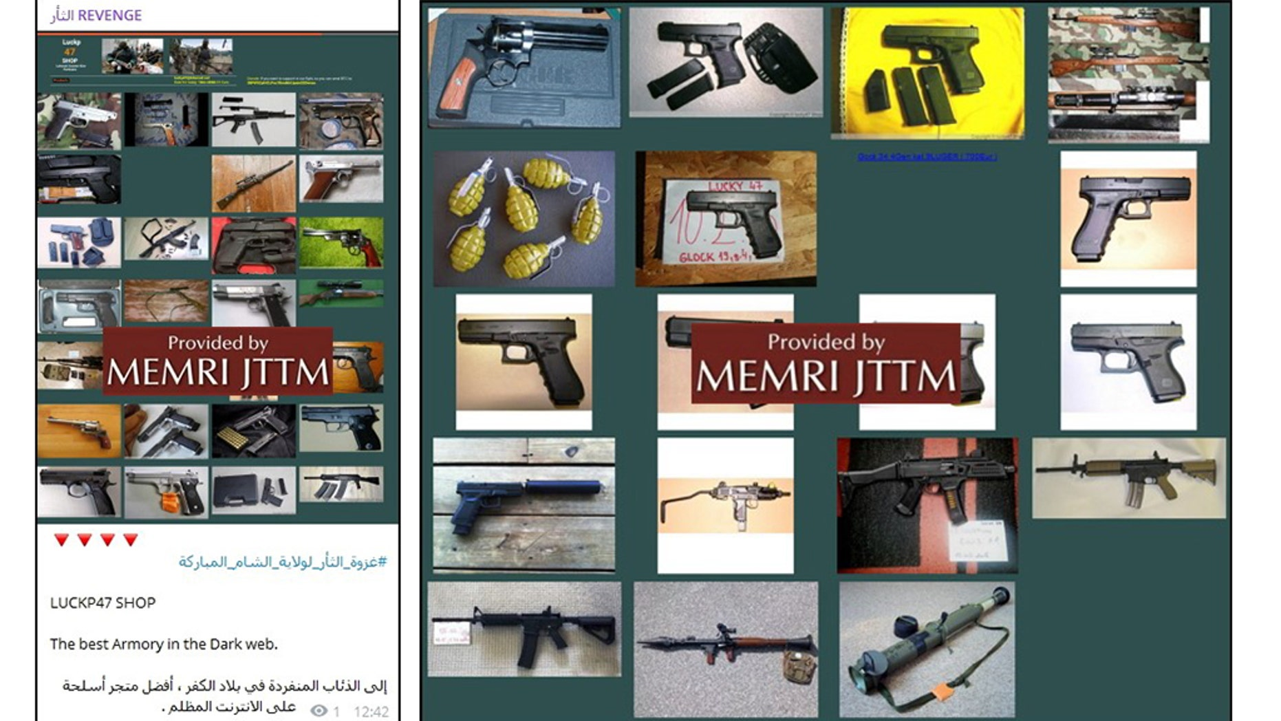Pro-ISIS channel issues guide to buying weapons on dark web, using