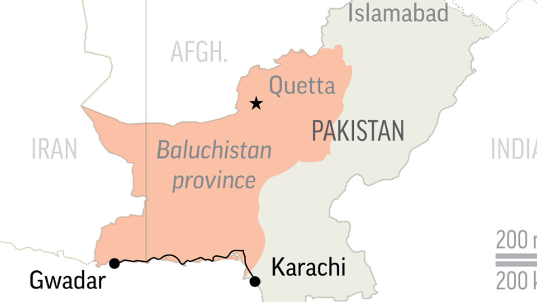 Gunmen kill 14 passengers after hijacking bus in Pakistan