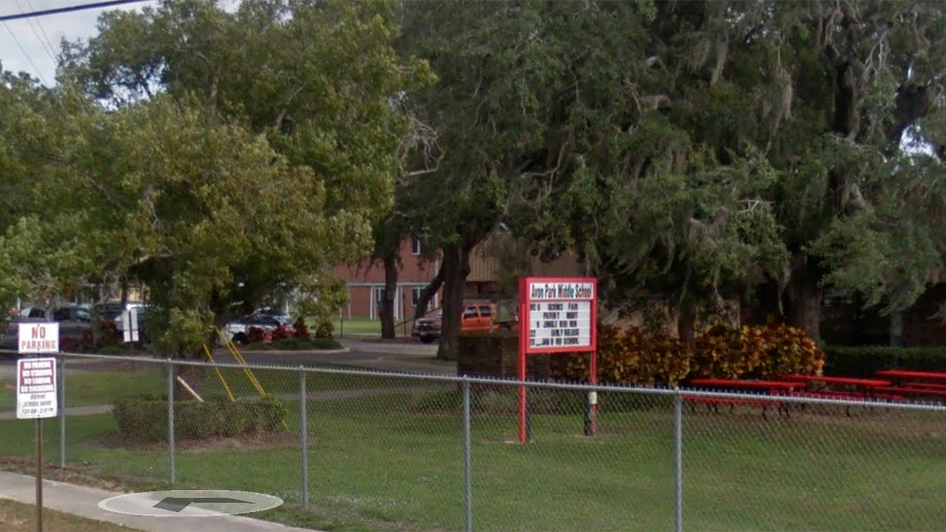 Two 14-year-old girls were arrested at Avon Park Middle School in Florida on Wednesday after a teacher discovered their alleged plans to kill nine people
