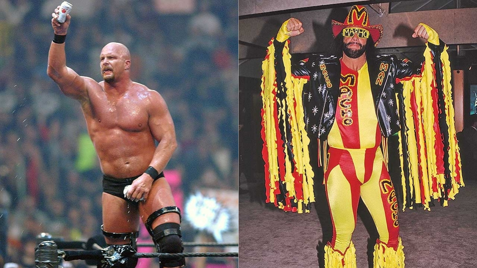 Stone Cold Steve Austin and Macho Man Randy Savage will be two of five wrestlers featured in documentaries, the result of a partnership between WWE and A&E Networks.