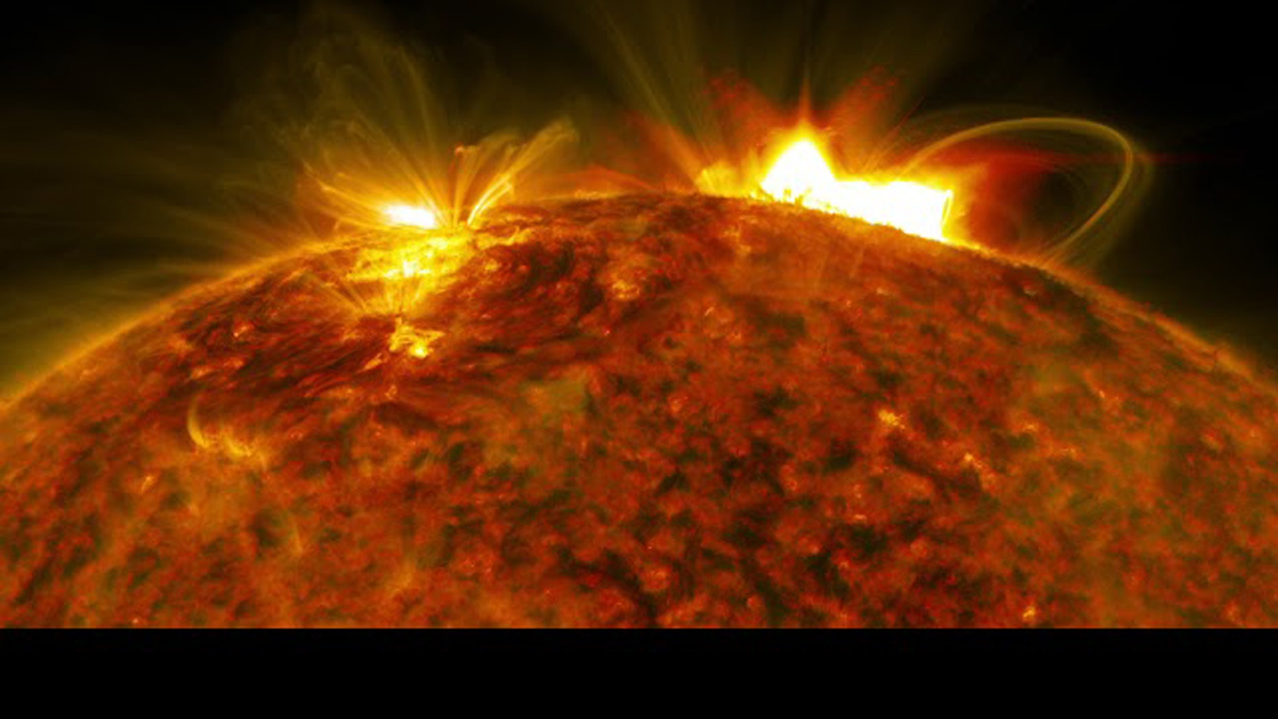 """NASA's Solar Dynamics Observatory captured an image of the massive flare that burst off the sun on Sept. 10, 201<div class=""""e3lan e3lan-in-post1""""><script async src=""""//pagead2.googlesyndication.com/pagead/js/adsbygoogle.js""""></script> <!-- Text_Image --> <ins class=""""adsbygoogle""""      style=""""display:block""""      data-ad-client=""""ca-pub-7122614041285563""""      data-ad-slot=""""2268374881""""      data-ad-format=""""auto""""      data-full-width-responsive=""""true""""></ins> <script> (adsbygoogle = window.adsbygoogle 