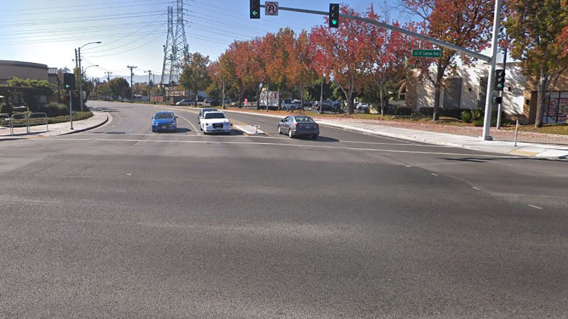 The crash happened at the intersection of El Camino and Sunnyvale Saratoga Road in Sunnyvale, California.