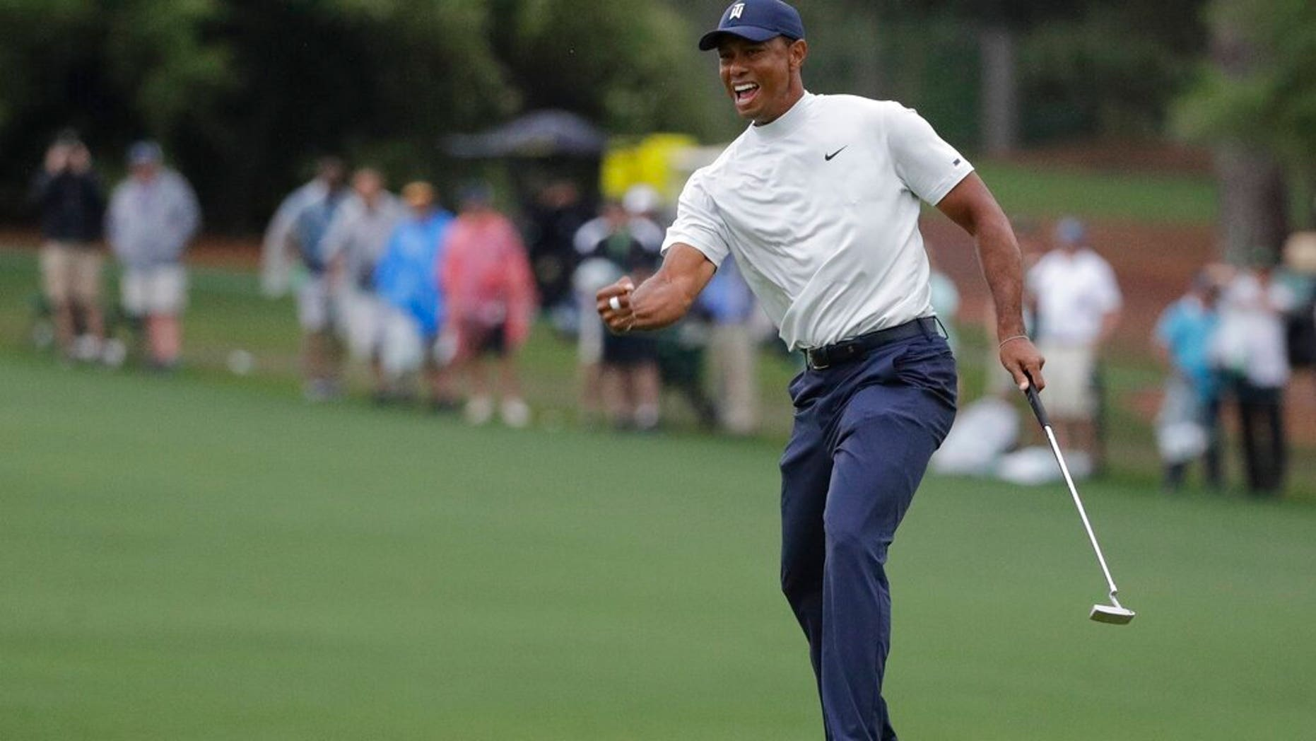 tiger woods almost taken out by masters security guard