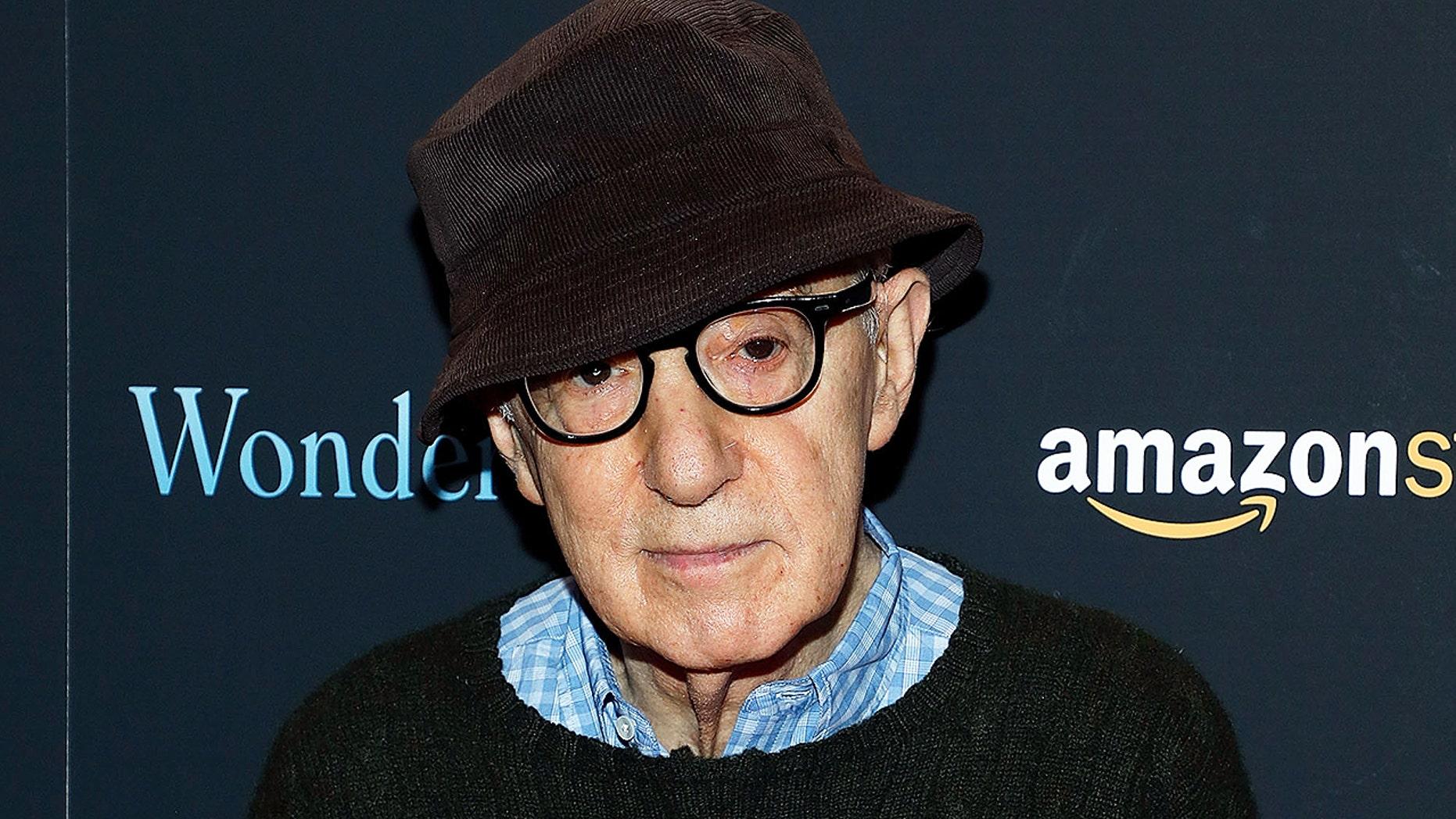 "Woody Allen attends the premiere of ""Wonder Wheel"" at Museum of Modern Art on November 14, 2017."