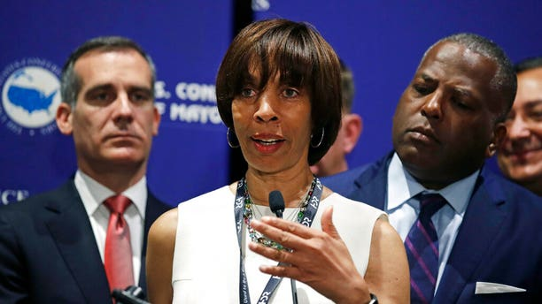 "Baltimore&apos;s embattled Mayor Catherine Pugh resigned amid state and federal investigations into whether she used bulk sales of her self-published children&apos;s book to disguise kickbacks. <br data-cke-eol=""1"">"