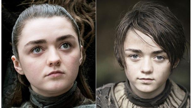 "Maisie Williams portraying Arya Stark in ""Game of Thrones."""