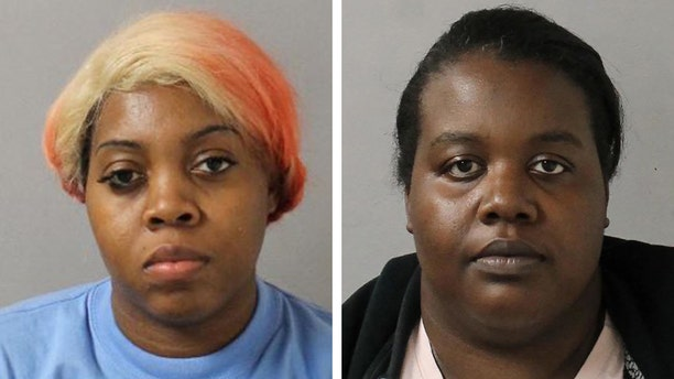 Angel Chatman (left), 28, the ex-girlfriend of the deceased, and her sister, Travonda Chatman, 26, were charged with felony aggravated assault after a reported fight Monday at a North Nashville funeral home.