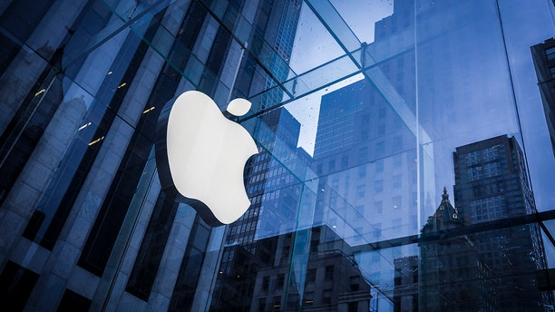 File photo: New York, United States of America - February 25: Company logo of Apple on an Apple store in Manhattan on February 25, 2016 in New York, United States of America. (Photo by Thomas Trutschel/Photothek via Getty Images)