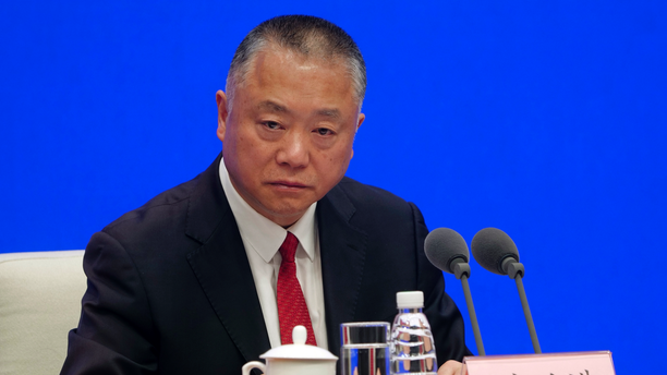 Liu Yuejin, vice commissioner of the National Narcotics Control Commission, speaks during a press conference in Beijing on April 1, 2019. (AP Photo/Sam McNeil)
