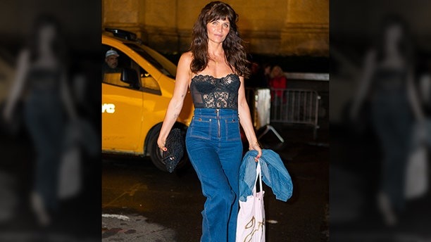 Helena Christensen attends Gigi Hadid's 24th Birthday at L'Avenue in Midtown on April 22, 2019 in New York City.