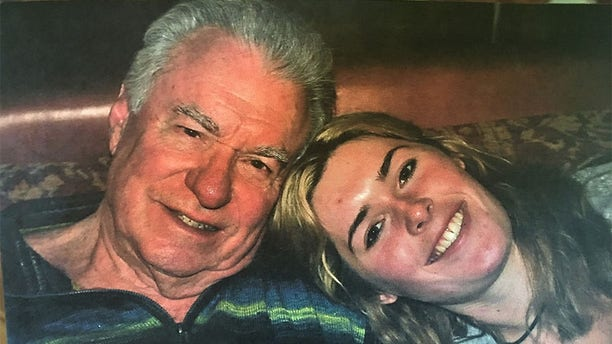 Victoria Siegel with her father.