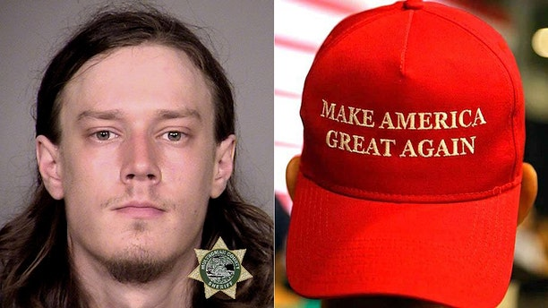 "Officers arrested Leor Bergland, 30, of San Francisco, Wednesday after he allegedly slashed a man with a sword after the victim allegedly knocked his ""Make America Great Again"" hat from his head, police said."