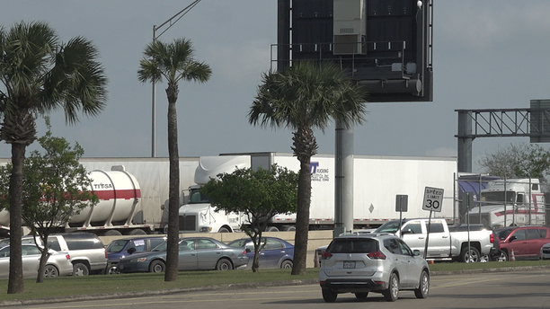 At Veterans International Bridge in Brownsville, TX, commercial drivers have described waiting three to five hours to cross into the United States.