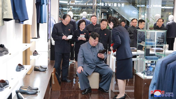 North Korean Leader Kim Jong Un visits Taesong Department Store just before its opening, in this photo released on April 2019 by North Korea's Korean Central News Agency (Reuters/KCNA).