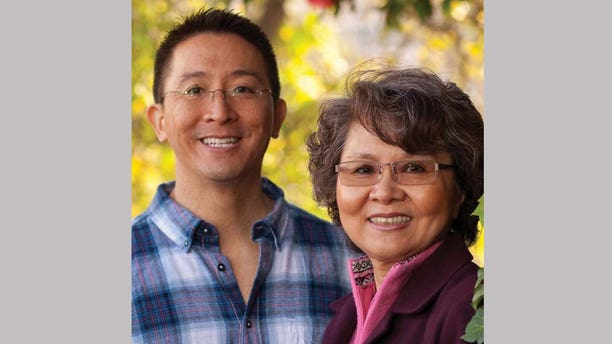Christopher Yuan and his mother, Angela, who prayed and fasted for him for many years after she became a Christian.