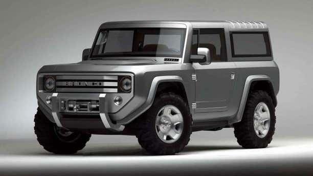 This 2004 Bronco concept may suggest the styling of the upcoming SUV.
